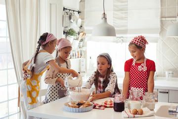 Children cooking in the kitchen