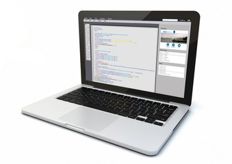 laptop web coding