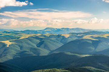 Photo sur Toile Colline Landscape with green hills