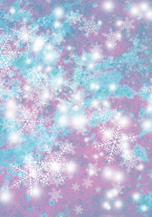 Christmas background with snowflakes. Abstract background