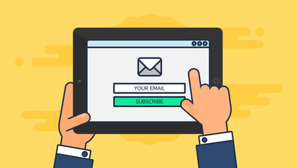 Web Template of Tablet Email Form
