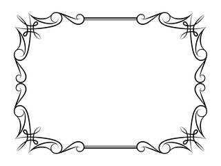 Vintage calligraphic rectangle frame