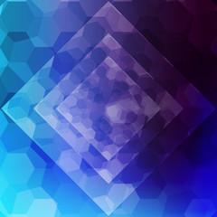 blue color hexagonal, rhombus pattern. vector illustration.