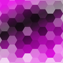 purple color gradient background with a hexagonal pattern. vector illustration