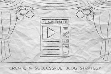 blog or website icons on stage under spotlights