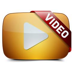 gold Video button