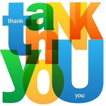 """""""THANK YOU"""" Letter Collage Card"""