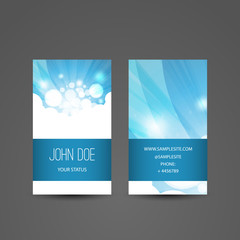 Business Card with White Abstract Pattern