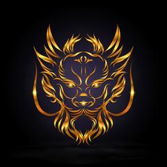 abstract gold dragon