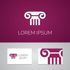 column logo template icon