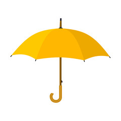Obraz Yellow umbrella icon. - fototapety do salonu