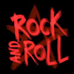 Rock and roll background design. Vector illustration.