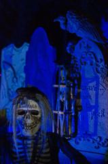 creepy halloween zombie at night