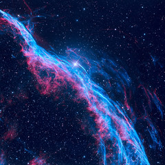 Witchs Broom Nebula or Veil Nebula in the constellation Cygnus.