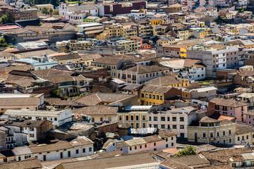 Vista aérea del centro histórico de Quito