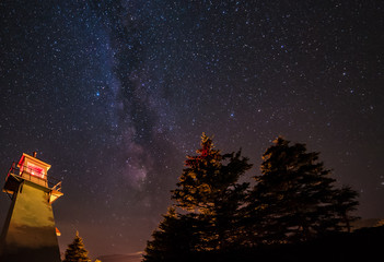 Night sky, seen from Woody Point LIghthouse in Gros Morne National Park