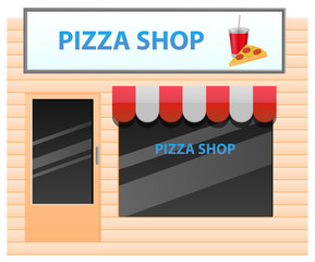 Small pizza shop vector image