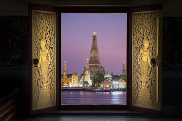 Thai Golden door In temple