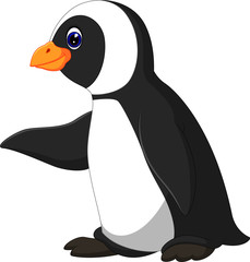 Cute funny emperor penguin