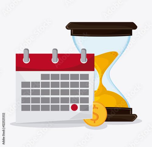 Calendar Design Tool : Quot hourglass and calendar icon time instrument tool