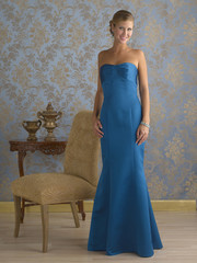 Blonde Beauty Wearing Evening Gown