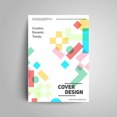 Geometric Cover design. Simple shapes multiply. A4 format template for business card,poster,flyer,brochure,book,magazine etc.