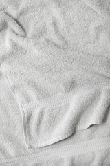 A full page of soft white towel fabric texture