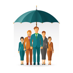 Personnel insurance vector concept in flat style