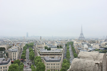 Paris from atop the Arc of Triumph