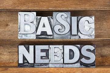 basic needs tray