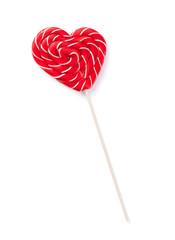 Candy heart lollipop