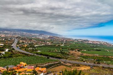 La Orotava Valley from Mirador de Humboltd, Tenerife, Canary Islands.