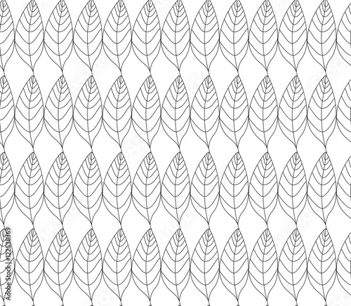 Simple elegant pattern with leaves drawn in thin lines in for Simple elegant wallpaper