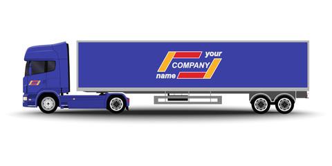 Vehicles set. Cargo Truck and Van