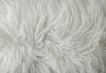 A full page of white fluffy fabric texture Wall mural