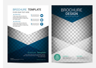Brochure template design vector background, Annual report Leaflet Flyer template