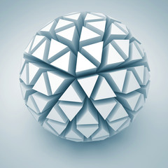 Abstract White Sphere Shape Icon