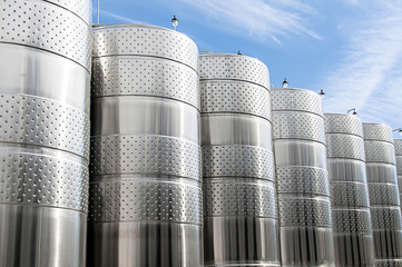 stainless steel tanks for the storage of liquids in production