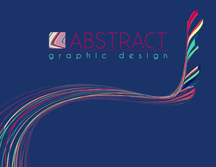 Idea. Abstract template with particolored strips