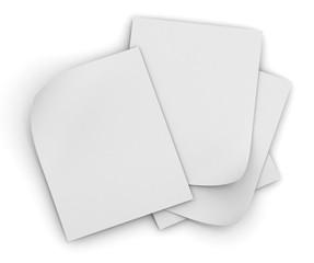 paper stack concept   3d illustration
