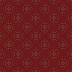 Abstract with brown polka dots seamless pattern on red background