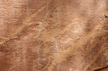 Petroglyph or rock art carvings in Freemont, Utah