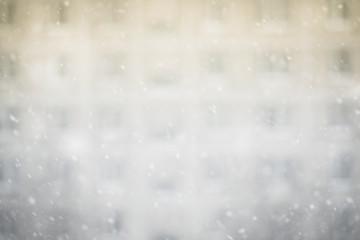 Snowfall in a big city