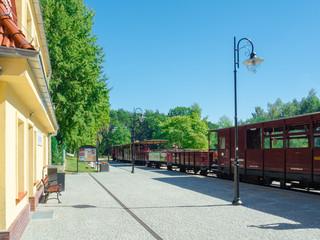 Train station in Niechorze. Poland