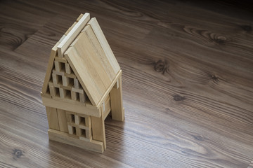 Model wooden house