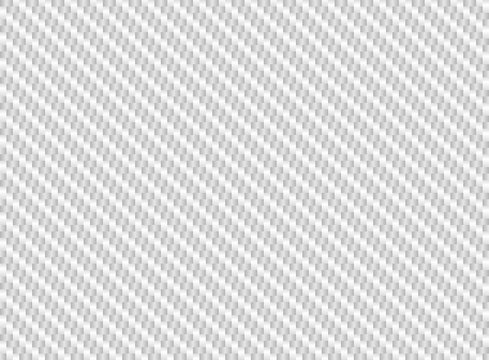Vector white carbon fiber seamless background. Abstract cloth material wallpaper for car tuning or service. Endless light web texture or page fill pattern