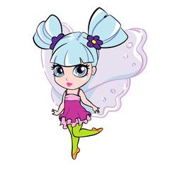 vector elf fairy girl