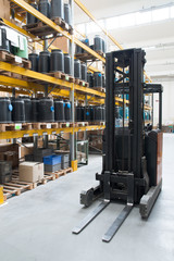 Factory wharehouse with forklift