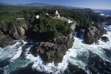Cape Beale light station, Vancouver Island, British Columbia, Canada.