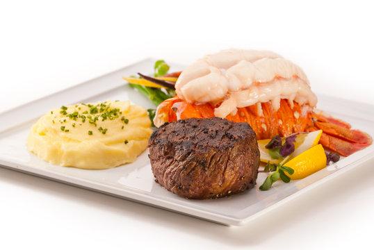 Petite Fillet and Lobster